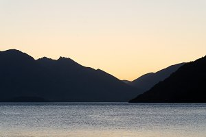 Sunset at Lake Wakatipu