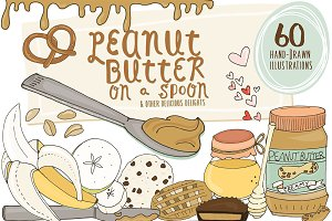 Food Illustrations - Peanut Butter
