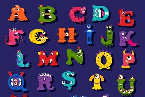 Funny alphabet for children