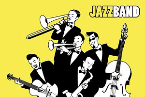 Jazz Band vector illustration!