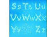 Font of soap bubbles