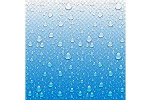 Vector Photo Realistic drop rain