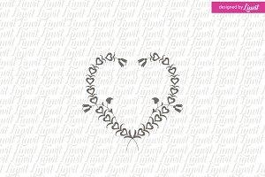 Heart Wedding Logo