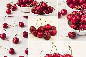 sweet cherry collage 3