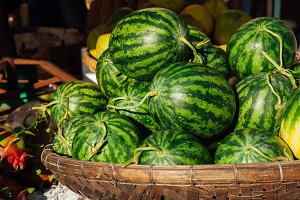 Watermelons at the street market