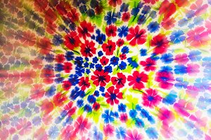 Psychedelic flower circle