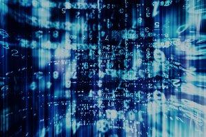 Inside computer dark interlaced digital abstraction background