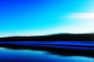 Horizontal vivid vibrant blue abstract travel landscape in motio