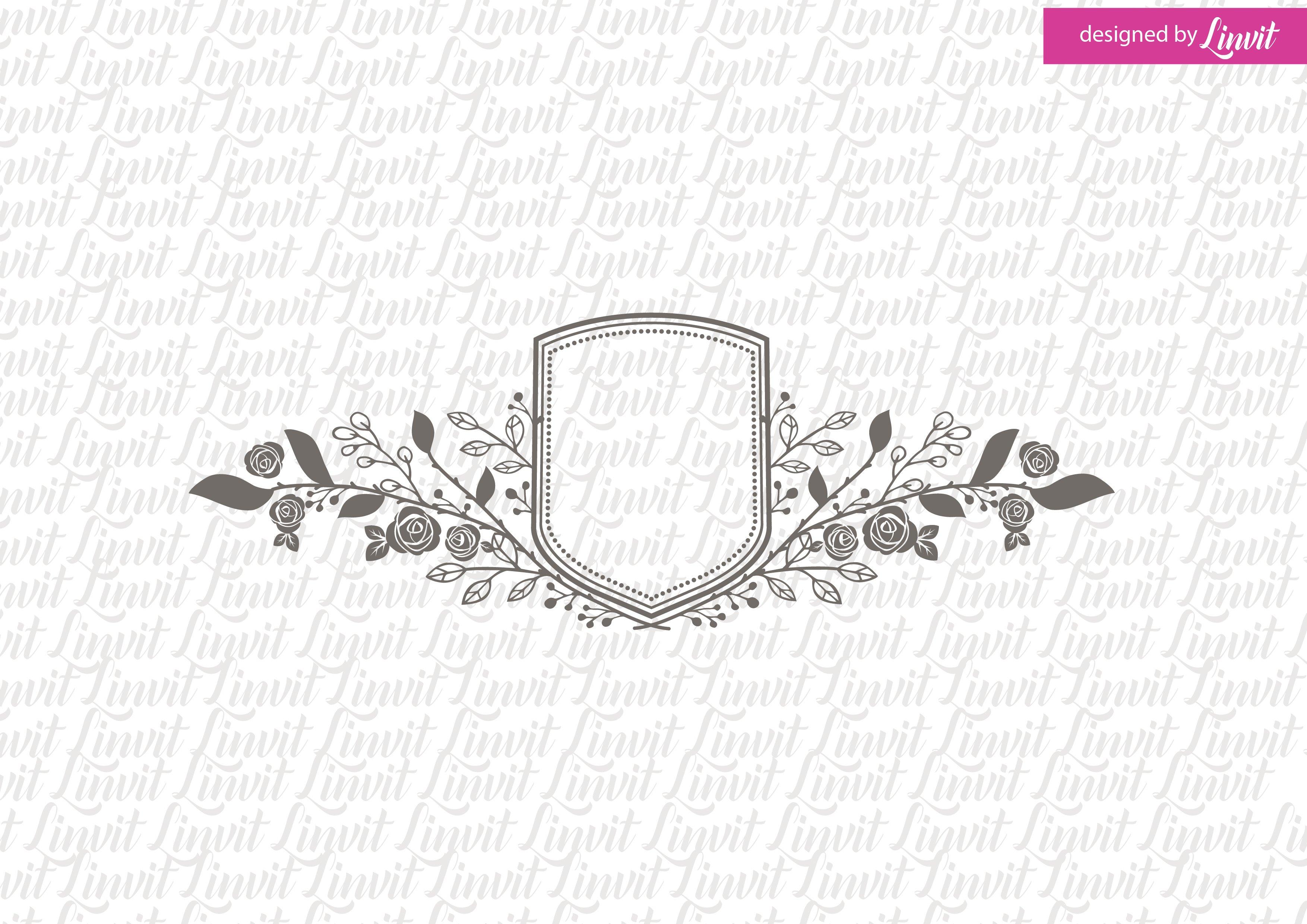 Floral Wedding Crest ~ Logo Templates ~ Creative Market