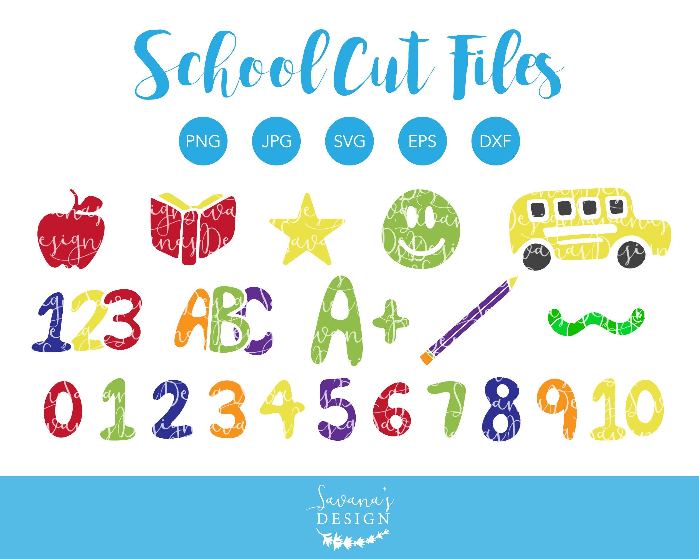 School SVG Cut Files and Clipart ~ Illustrations ~ Creative Market