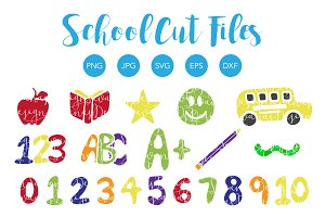 School SVG Cut Files and Clipart