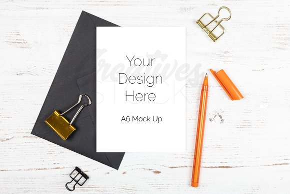 A6 Greetings Card Stock Photo