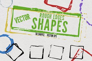 Vector Rough Edges Shapes