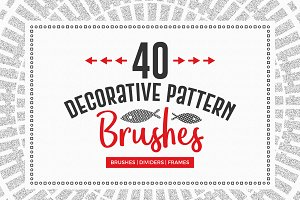 40 Decorative Pattern Brushes