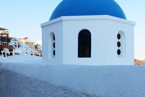 Santorini Blue and White Building