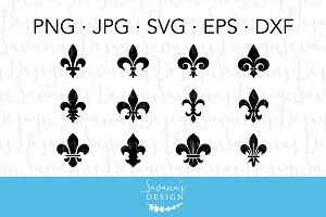 Fleur De Lis SVG Cut Files & Clipart