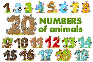 numbers of animals