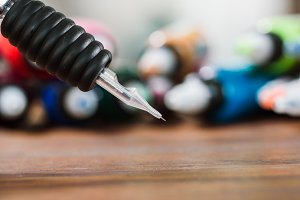 Close-up of tattoo needle