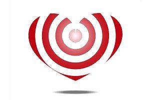 Heart shaped target