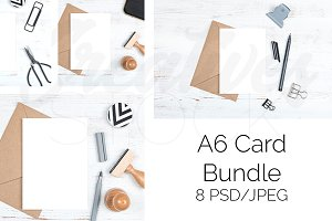 A6 Card Bundle - 8 JPEG/PSD