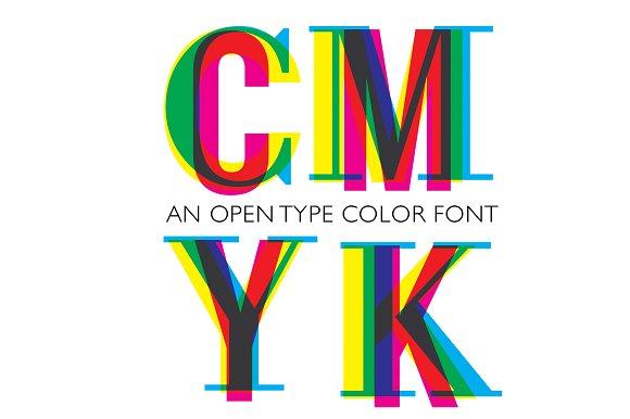 CMYK OTF Colour Font