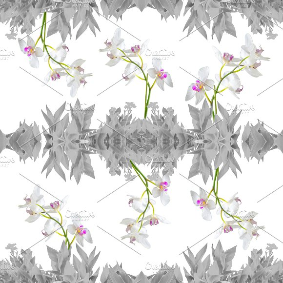 Floral Collage Seamless Pattern Design
