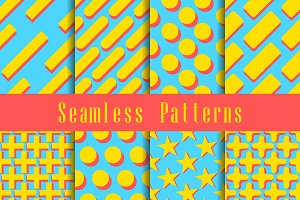 Geometric modern seamless pattern