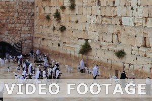People pray at the Western Wall in Jerusalem