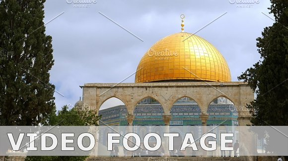 Dome Of The Rock In Jerusalem Over Temple Mount