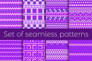 Ethnic seamless pattern set