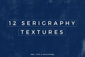 12 Serigraphy Textures