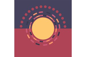 Technology colorful round background. Abstract digital illustration. Vector eps 10 connection concept. Electronic round design. Modern abstraction lines and points.