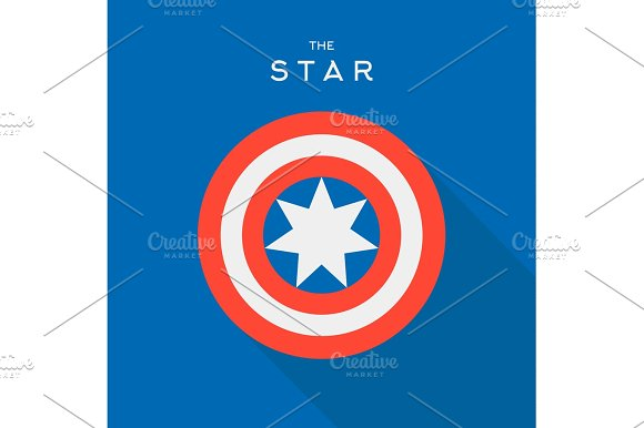 Star In The Circle Vector Sign Emblem Logo