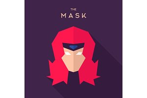 Mask Hero superhero vector logo