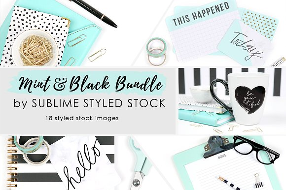 Mint Black Bundle Of 18 Images