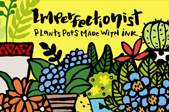 Imperfectionist Inked Plant Pots