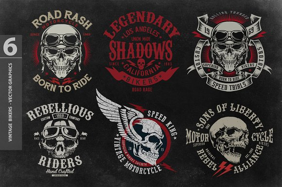 Bikers Collection Of T-shirt Design