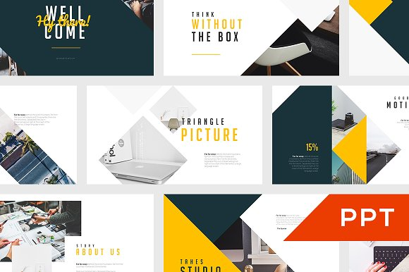 tahes powerpoint template presentation templates creative market