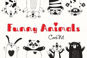 Funny Animals - Card Kit