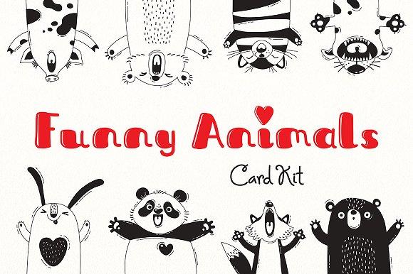 Funny Animals Card Kit