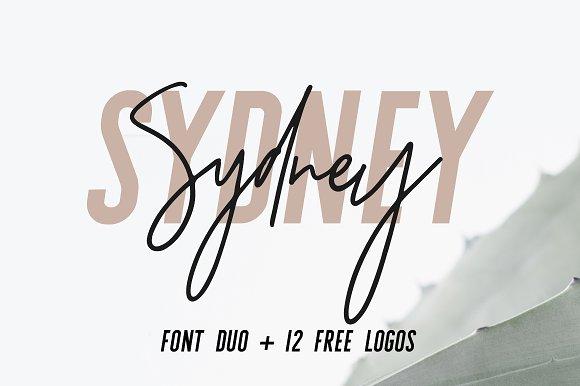 Sydney font duo free logos sans serif fonts on
