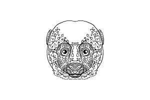 Lemur Head Mandala