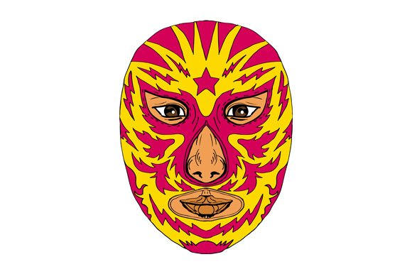 Luchador Mask Star Lightning Bolt