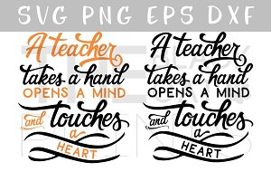 Teacher quote SVG PNG EPS DXF