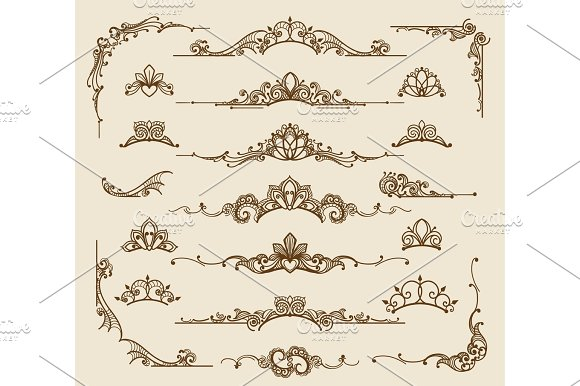 Royal Victorian Filigree Design Elements