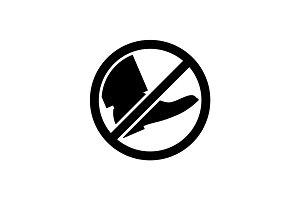 Black park sign do not go