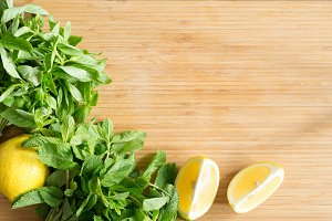 Herbs and lemons