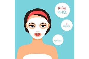 Peeling mask for treating skin
