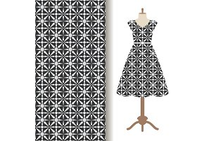 Women dress fabric pattern design