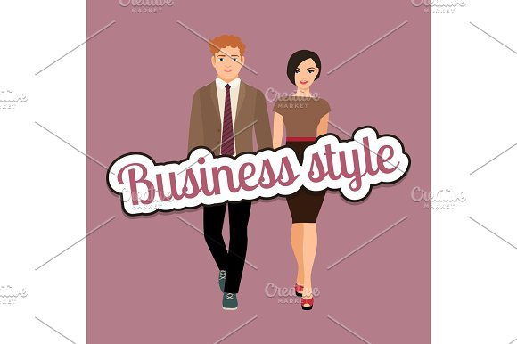 Elegant Couple In Business Style Clothing